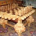 Монгольский шахматный стол с фигурами