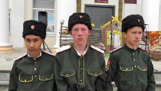 Посвящение в казачата в Новоселенгинской школе-интернат